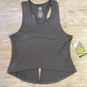 Gold's Gym Tank Top Tie Back Fitness Workout Grey